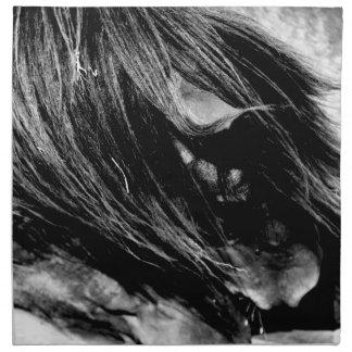Abstract Horse Mane Photograph Napkin