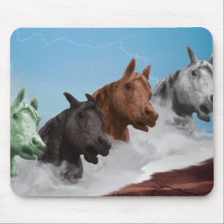 Abstract Horse Mouse Pad