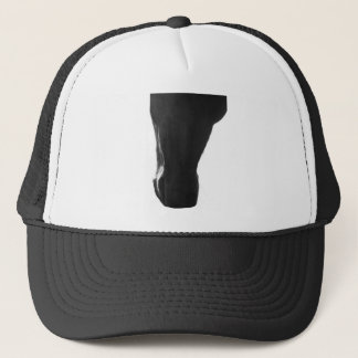 Abstract horse muzzle trucker hat