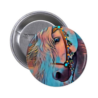 Abstract Horse Pinback Button