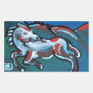 Abstract horse (sticker) rectangular sticker
