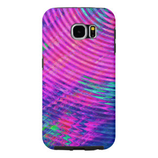 Abstract Hot Pink Blue Ripples Pattern Samsung Galaxy S6 Case