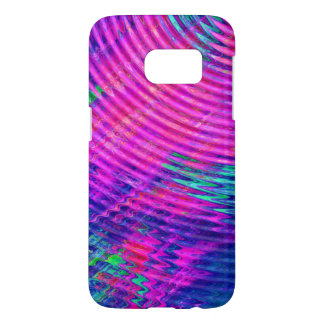 Abstract Hot Pink Blue Ripples Pattern Samsung Galaxy S7 Case