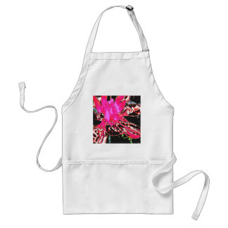 Abstract Hot Pink  Floral Dahlia Flower Pattern Adult Apron