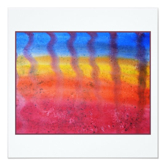 Abstract. Hot Sand in Summer. Card