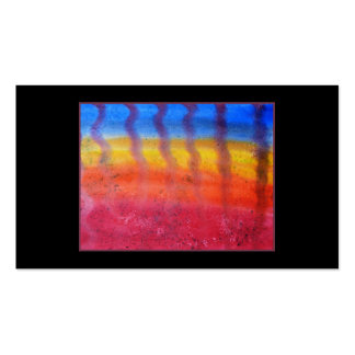 Abstract. Hot Sand in Summer. On Black. Business Card Template