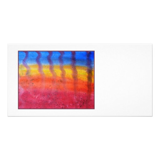 Abstract. Hot Sand in Summer. Personalized Photo Card