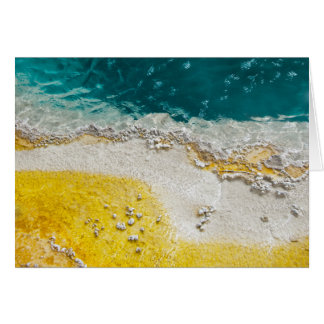 Abstract Hot Spring Yellowstone National Park Card