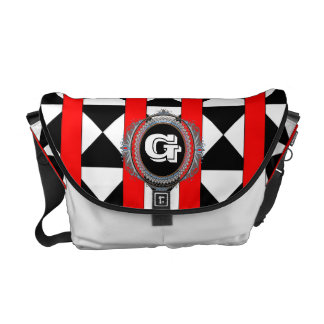 Abstract Hourglass Red Strap Designer Bag Messenger Bags