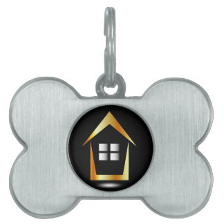 Abstract house pet name tag