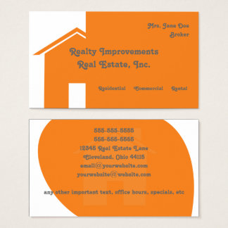 Abstract House Real Estate Business Card