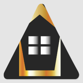 Abstract house triangle sticker