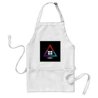 Abstract house with windows apron