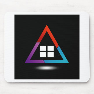 Abstract house with windows mouse pad