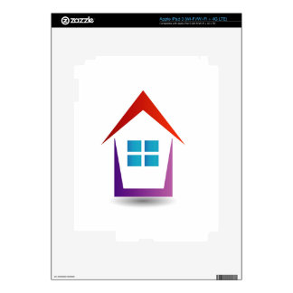 Abstract house with windows iPad 3 skins