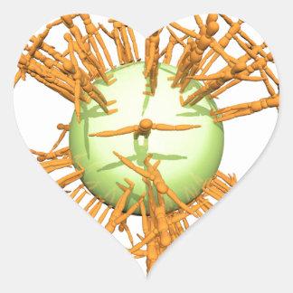 Abstract human heart sticker