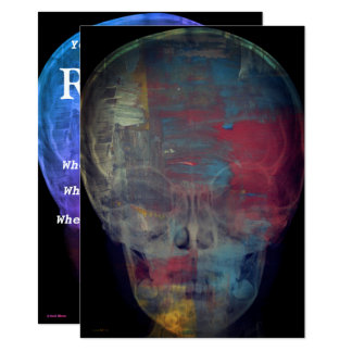 Abstract Human Skull Card