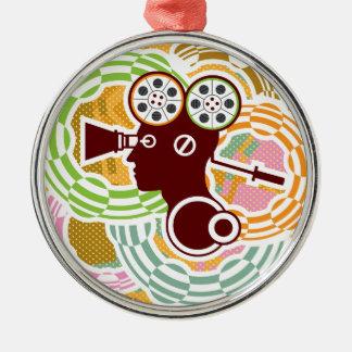 Abstract Human VideoReel Metal Ornament