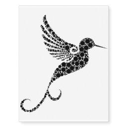 Abstract Humming Bird Temporary Tattoo