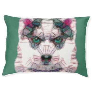 abstract husky puppy large dog bed