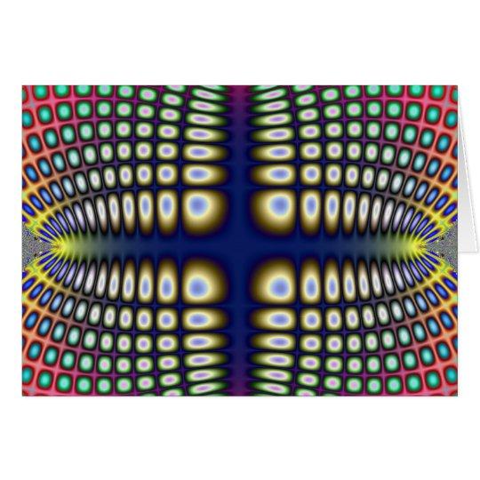 Abstract Hypnotic Design Polka Dots Fractal Card