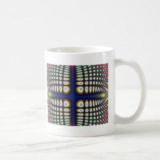 Abstract Hypnotic Design Polka Dots Fractal Coffee Mug