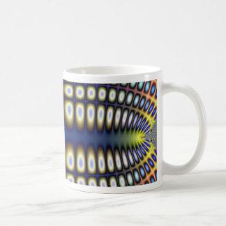 Abstract Hypnotic Design Polka Dots Fractal Mug