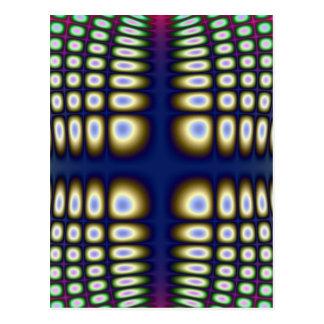 Abstract Hypnotic Design Polka Dots Fractal Postcard