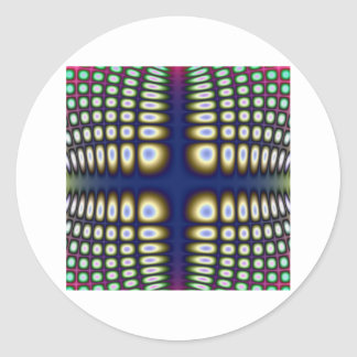 Abstract Hypnotic Design Polka Dots Fractal Classic Round Sticker
