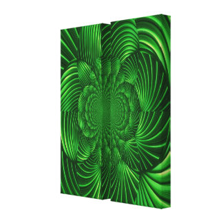Abstract Hypnotic Palm Wrapped Canvas Stretched Canvas Print