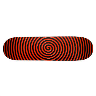 Abstract Hypnotized Black Red Skateboard