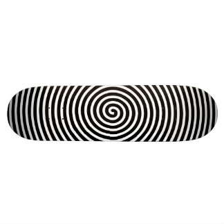 Abstract Hypnotized Black White Skateboard Deck