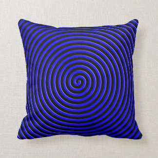 Abstract Hypnotized Blue Throw Pillow