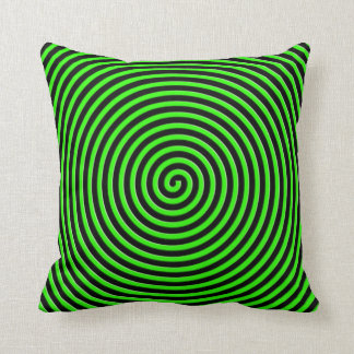 Abstract Hypnotized Green Throw Pillow