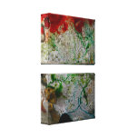 Abstract Ice & Color Stretched Canvas Prints