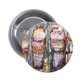 Abstract Ice Cream Sundaes (Food Expressionism) Button