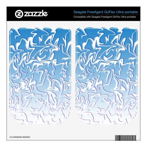 Abstract Icy Swirl FreeAgent GoFlex Skins