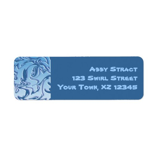 Abstract Icy Swirl Custom Return Address Labels