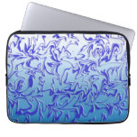 Abstract Icy Swirl Laptop Sleeves
