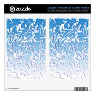 Abstract Icy Swirl FreeAgent GoFlex Skins
