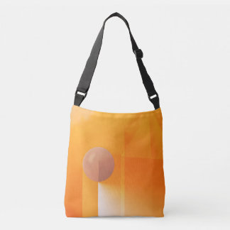 Abstract Ideas Orange Shadow Crossbody Bag