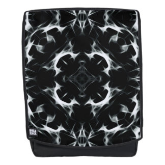 Abstract illusion -BW- Adult Backpack + Face