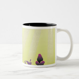 Abstract Illustration 2 Two-Tone Coffee Mug