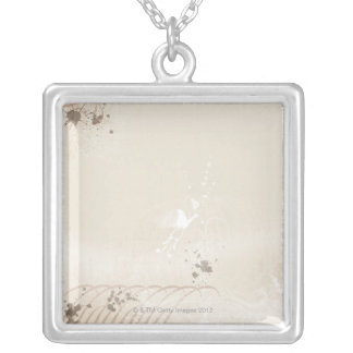 Abstract Illustration 3 Silver Plated Necklace