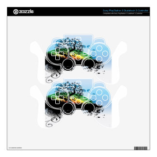 Abstract illustration design decal for PS3 controller