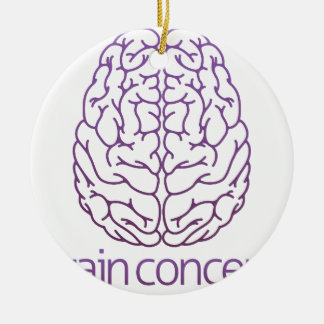 Abstract illustration of a brain ceramic ornament