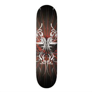 Abstract illustration with floral  motive skateboard