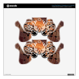 Abstract illustration with floral  motive skin for PS3 controller