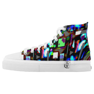 Abstract  image  black and blue  high  tops High-Top sneakers