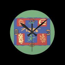 Abstract Image Clock wall clocks